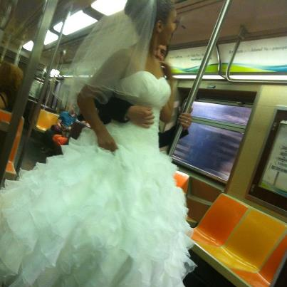 Here's Something You Don't See Everyday…Even on a NYC Subway