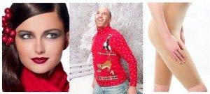 Ugly Christmas Sweater, Holiday Makeup, Shapewear