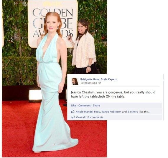 Jessica Chastain 2013 Golden Globes Fashion