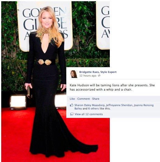 Golden Globes Fashion Kate Hudson