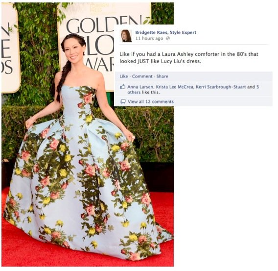 Lucy Liu 2013 Golden Globes Fashion
