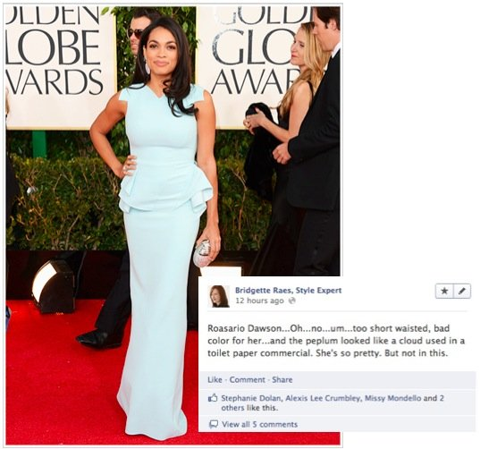 Rosario Dawson 2013 Golden Globes Fashion