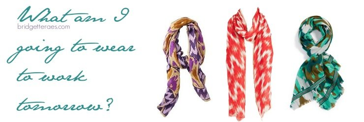 How to Accessorize with an Ikat Print Scarf for Work