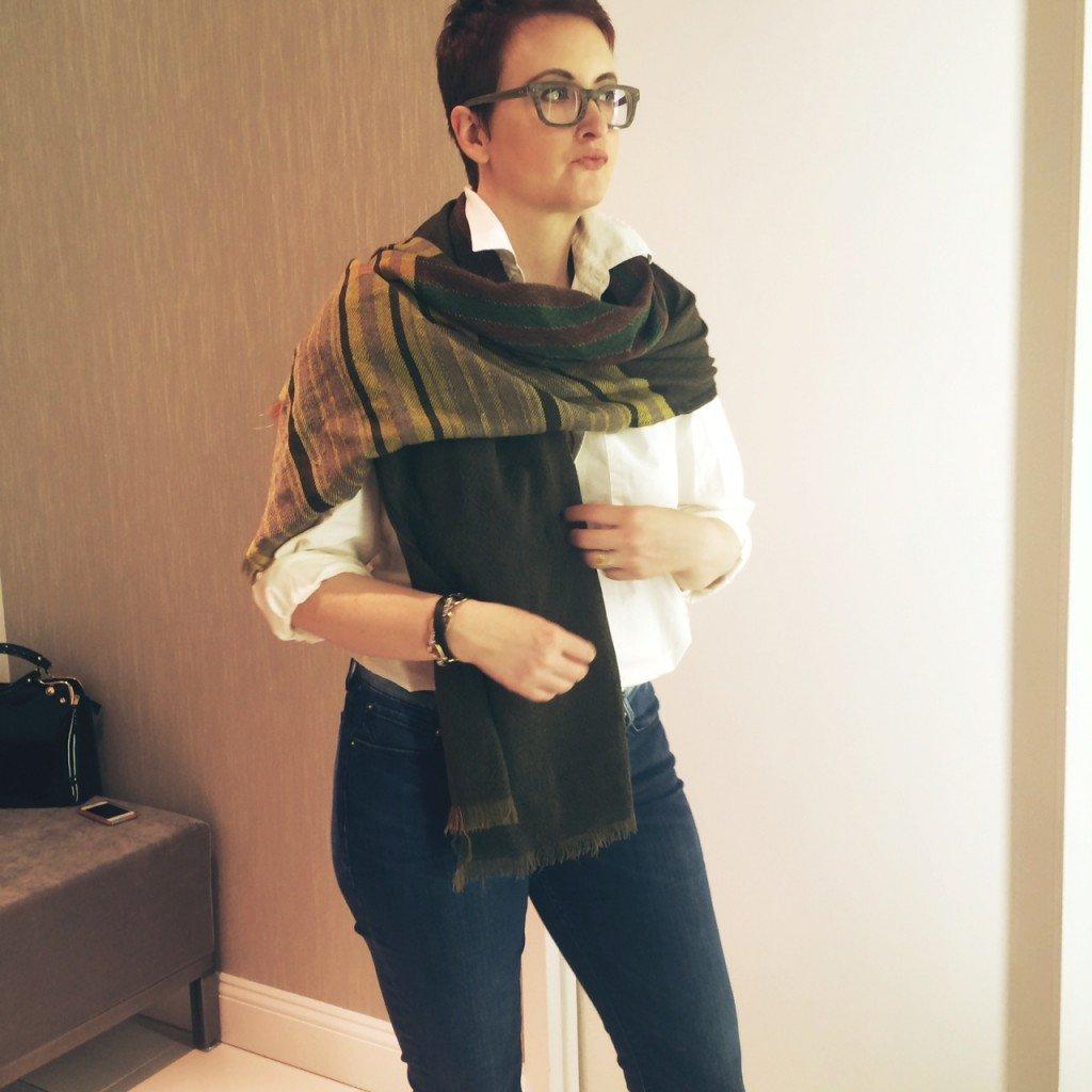 How to wrap a pashmina scarf