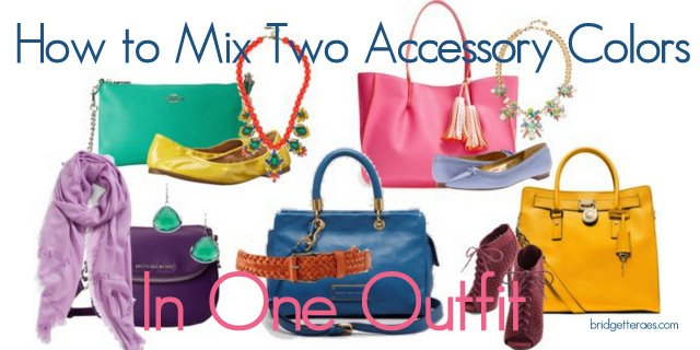 How to Accessorize with Two Colors in One Outfit