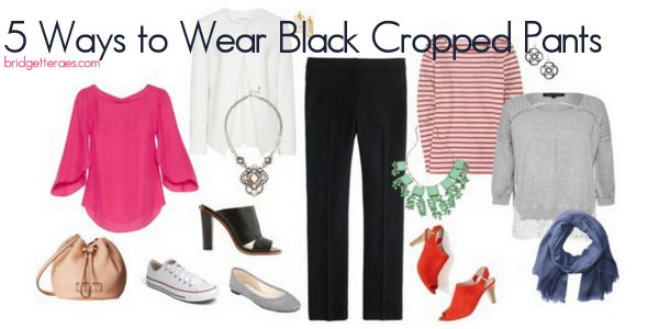 Five Ways to Wear Black Cropped Pants this Spring