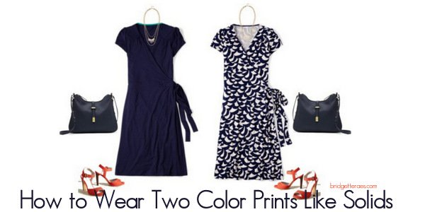 How to Treat Two Color Prints Like Solids