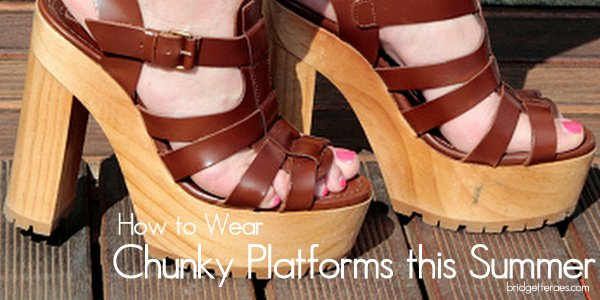 How to Wear Chunky Platform Sandals