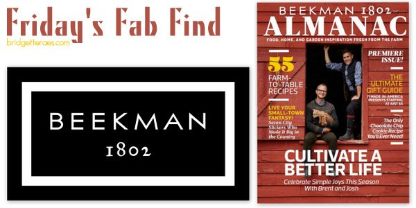 Friday's Fab Find: Beekman 1802 Almanac