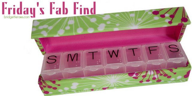 Friday's Fab Find:  Style Rx Designer Pill Box Case