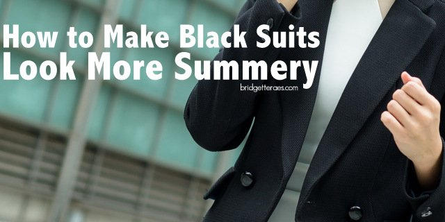 How to Make Black Suits Look More Summery