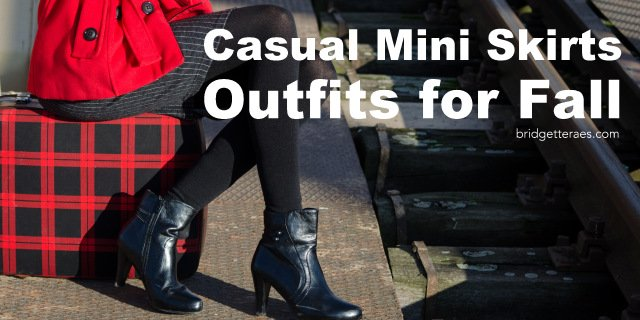 Casual Mini Skirts Outfits for Fall