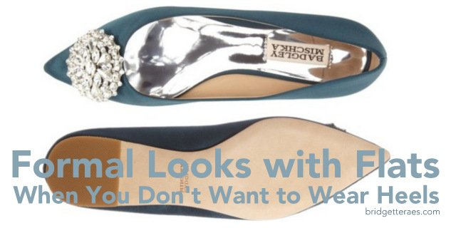 Formal Looks with Flats When You Don't Want to Wear Heels
