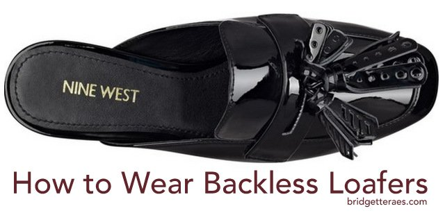 How to Wear Backless Loafers (Mules) this Fall