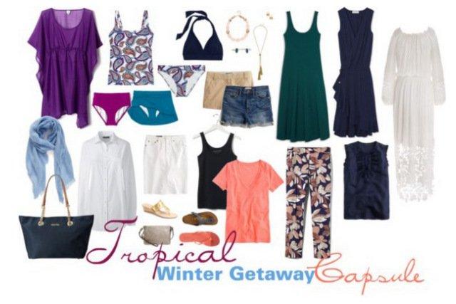 Tropical Winter Getaway Wardrobe Capsule