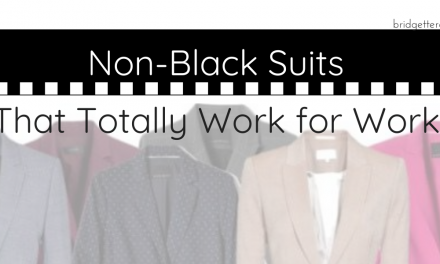 Break the Style Rut: Non-Black Suits for Work