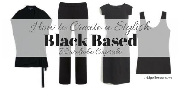 How to Create a Stylish Black Based Wardrobe Capsule