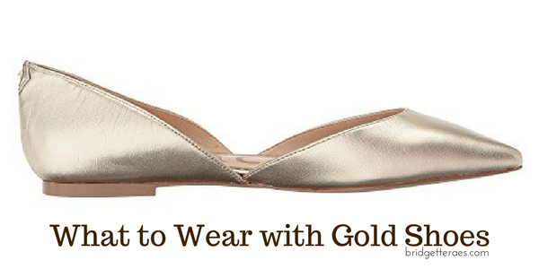 What to Wear with Gold Shoes