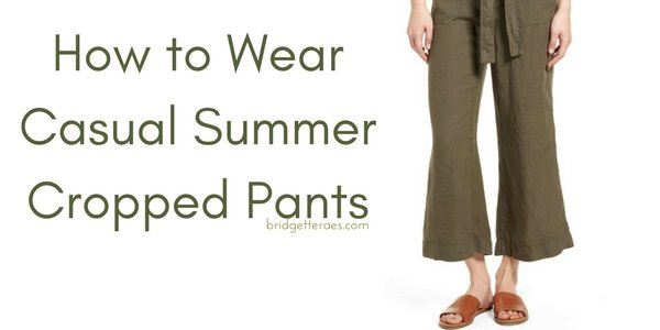 How to Wear Casual Summer Cropped Pants