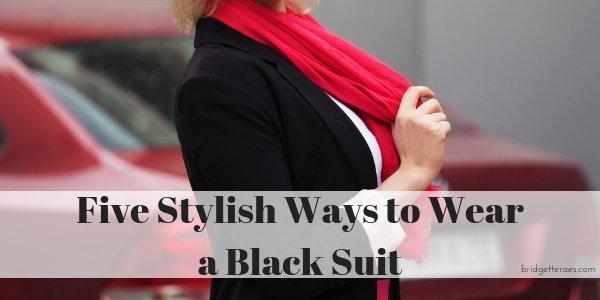 Five Ways to Wear a Basic Black Suit