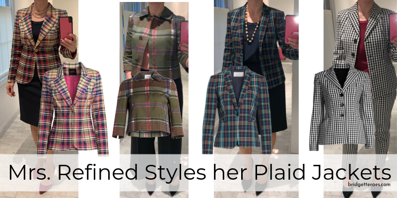 Mrs. Refined Styles her Plaid Jackets