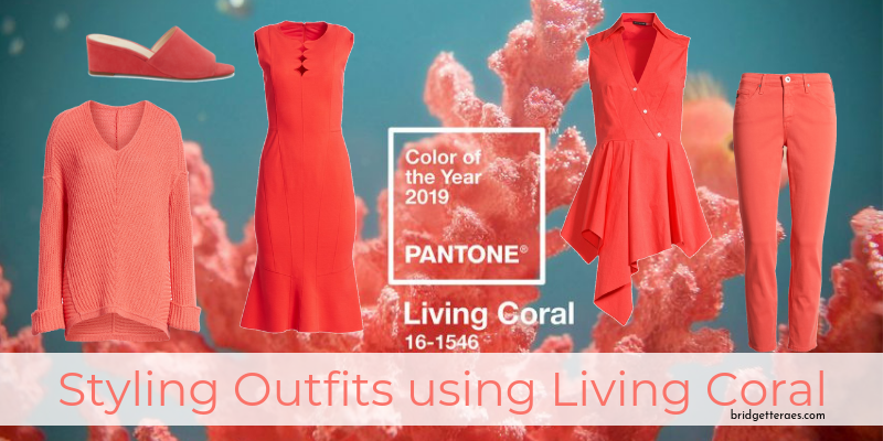 Styling Outfits Using Living Coral