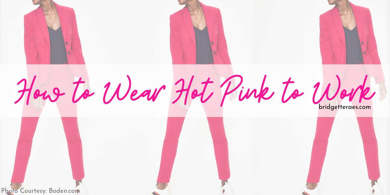 How To Wear Hot Pink to Work