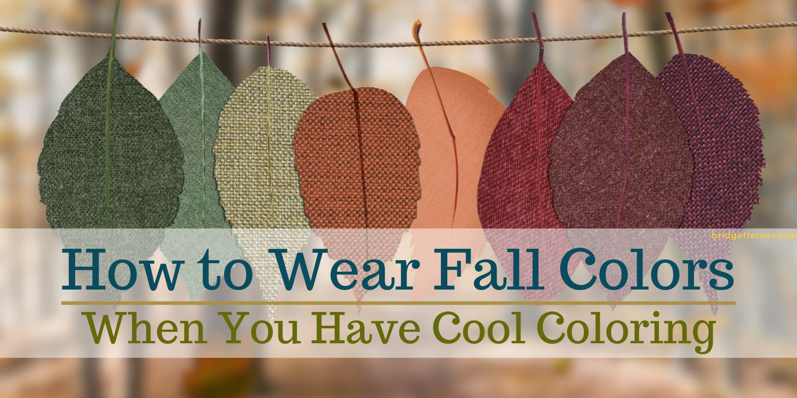 How to Wear Fall Colors When You Have Cool Coloring