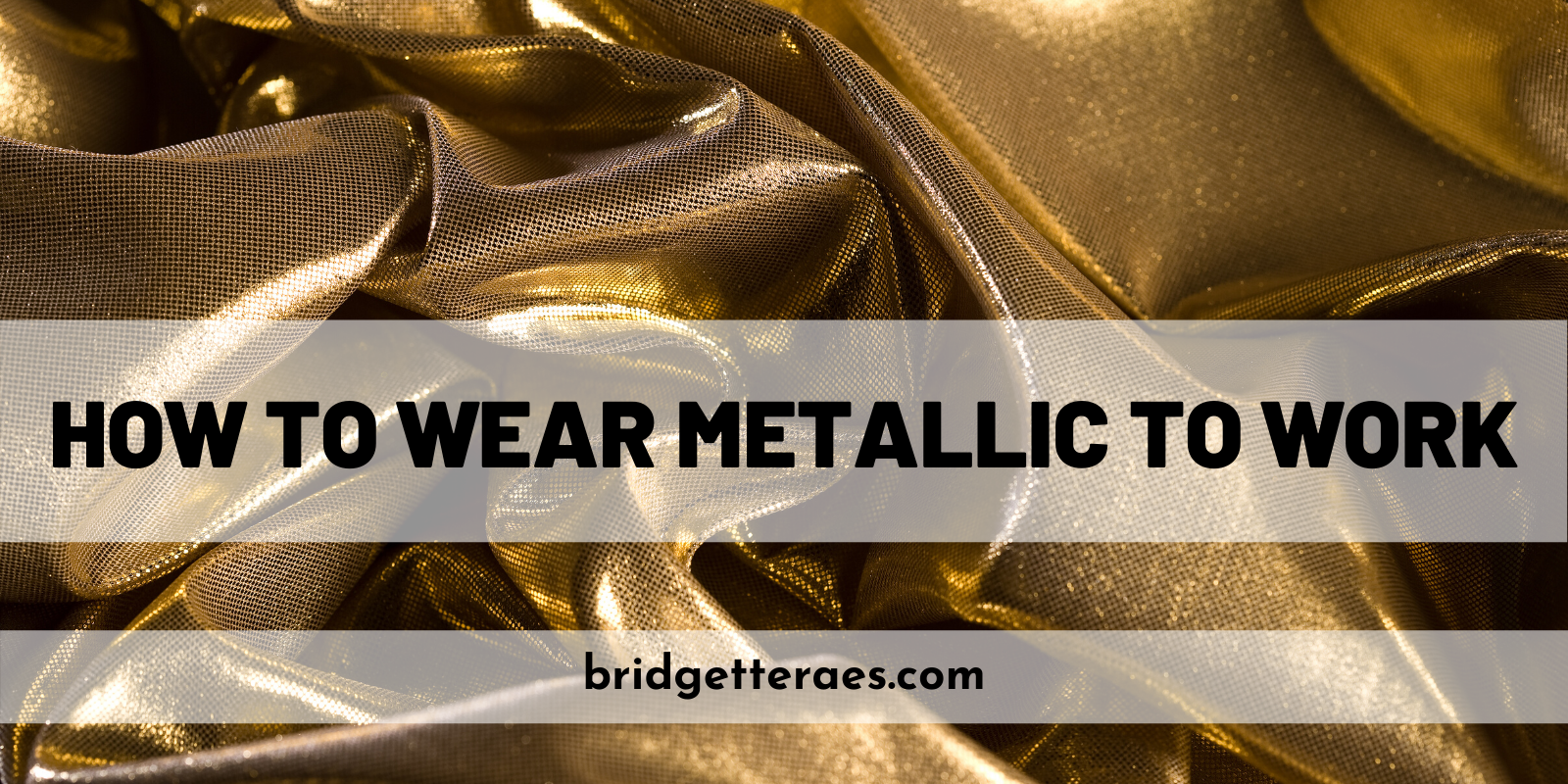 How to Wear Metallic to Work