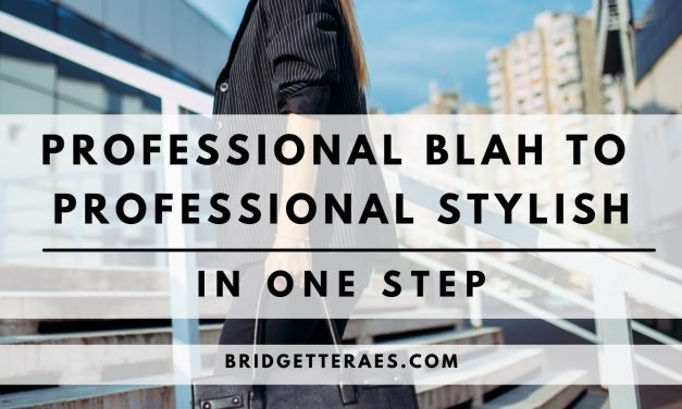 Professional Blah to Professional Stylish in One Step