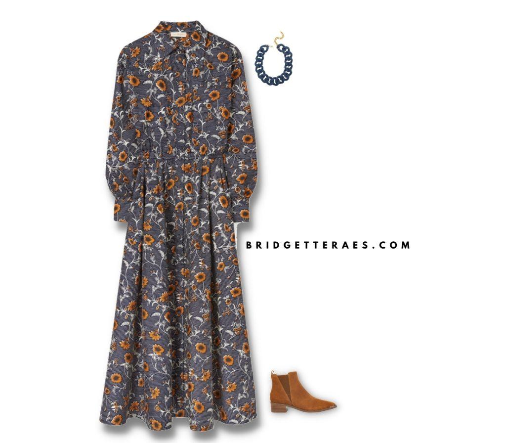 autumn fall floral dresses